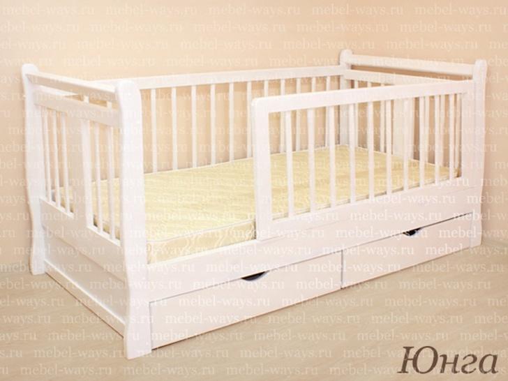 «Юнга» - кровать детская с высоким бортиком