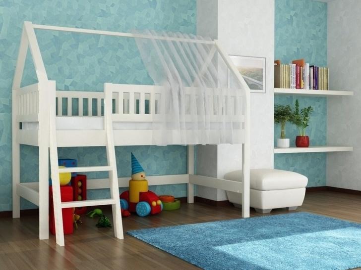 Кровать домик чердак «ДК-13»