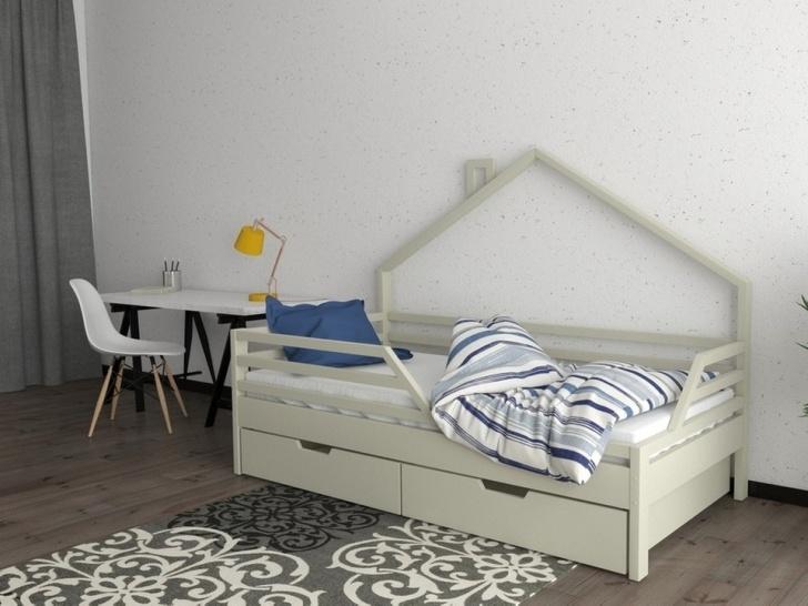 Кровать-домик из массива «ДК-04»