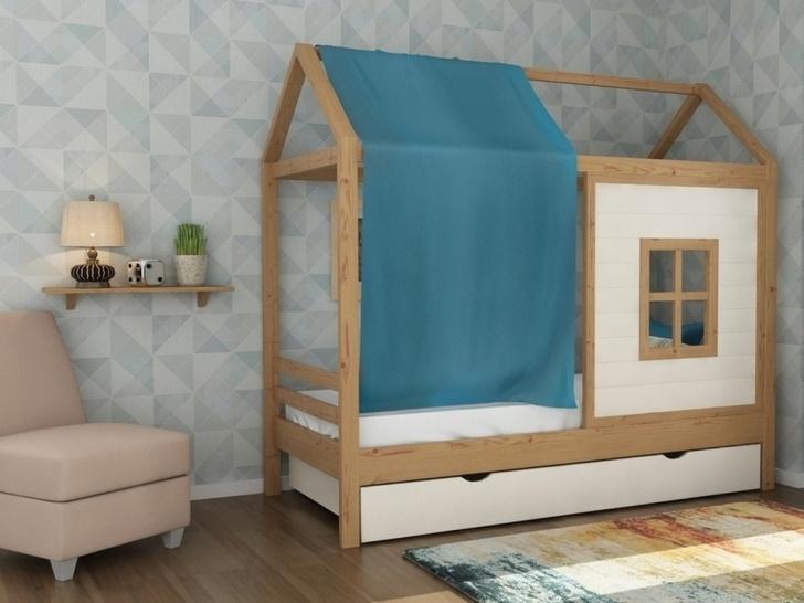Кровать домик с окошком «ДК-08»