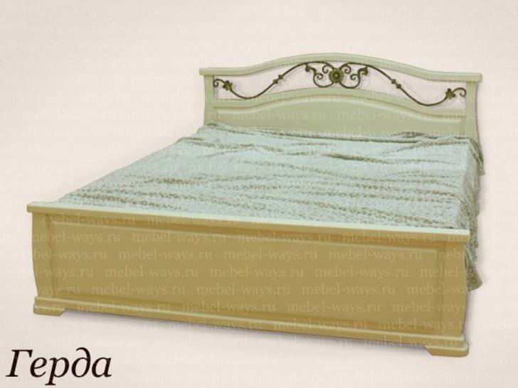Двуспальная кровать с красивой спинкой «Герда»