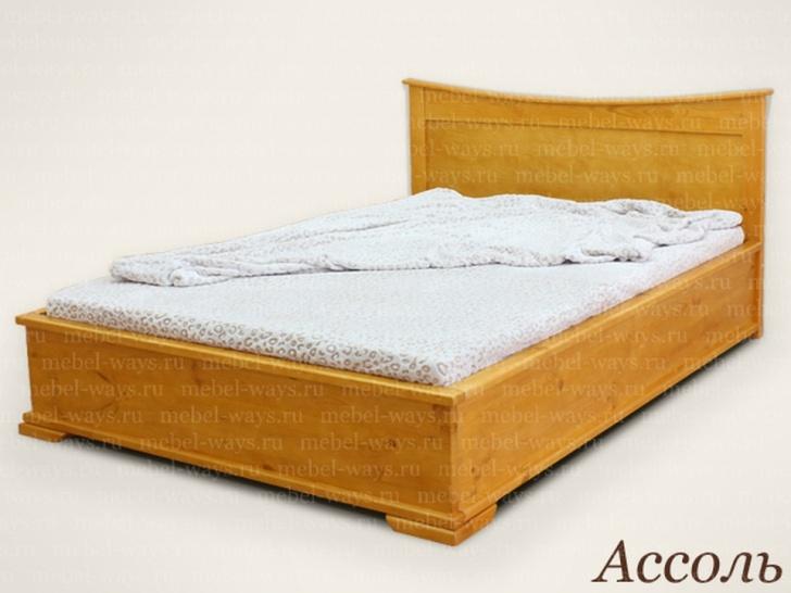 Кровать с гнутой спинкой «Ассоль»