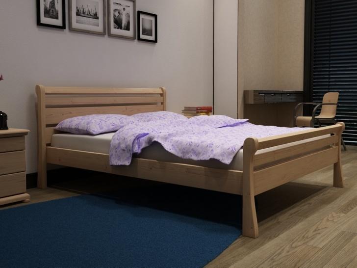 Кровать из дерева для спальни «Идиллия-9»