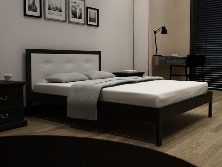 Кровать из изголовьем из кожи Эко «Идиллия-6»