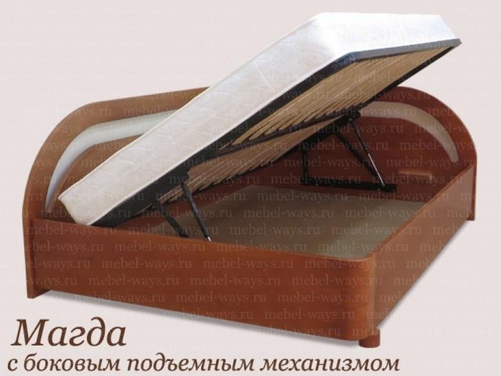 Кровать с боковыми спинками с подъемным механизмом «Магда»