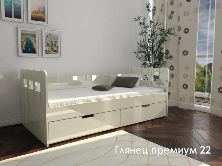 Кровать МДФ ПВХ «Глянец Премиум – 22»