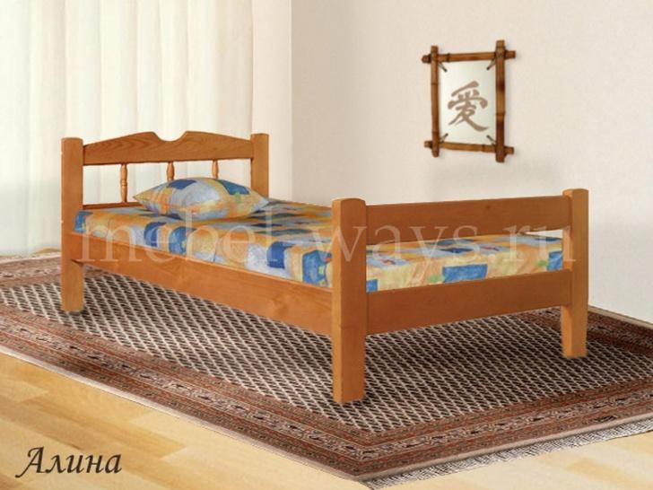 Недорогая односпальная кровать «Алина»