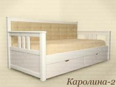 Кровать односпальная с мягкой спинкой «Каролина-2»