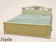 Белая кровать с ковкой «Герда»