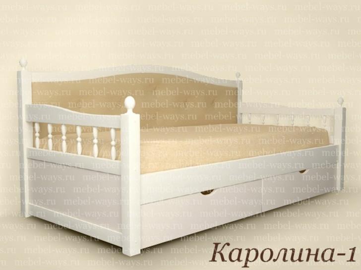 Подростковая кровать из сосны «Каролина-1»