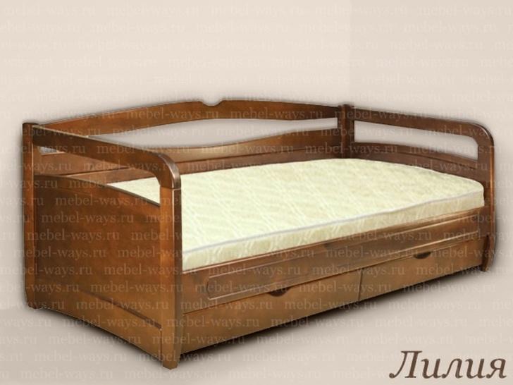 Односпальная подростковая кровать «Лилия»