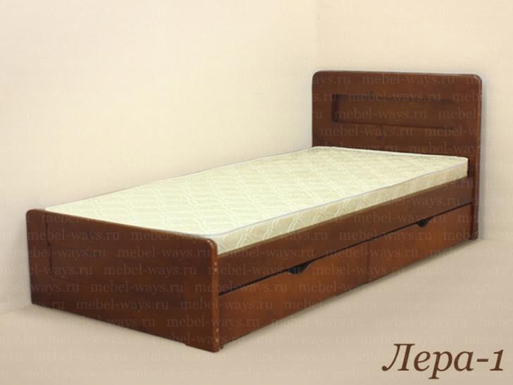Односпальная кровать 90х200 с матрасом «Лера-1»