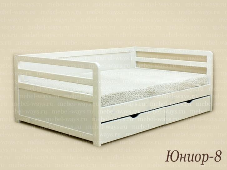 Односпальная кровать из массива сосны «Юниор-8»