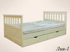 Односпальная кровать с ящиком для белья «Лия-1»