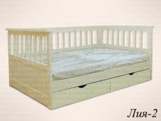 Кровать подростковая со спинками «Лия-2»