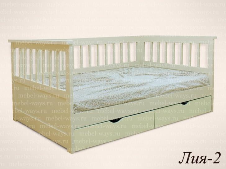 """Кровать подростковая со спинками """"Лия-2"""""""