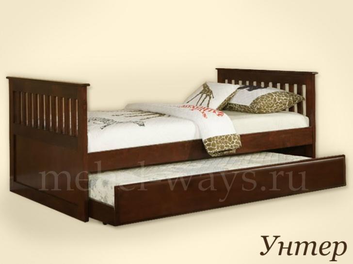 Кровать с выкатным спальным местом «Унтер»