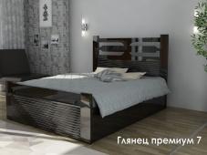 Кровать с глянцевым изголовьем «Глянец Премиум — 7»