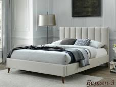 Кровать с мягким изголовьем на ножках «Берген-3»