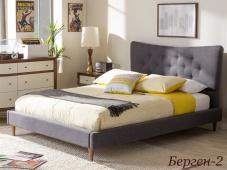 Кровать с мягким изголовьем в скандинавском стиле «Берген-2»