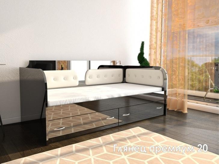 Кровать с мягкой спинкой «Глянец Премиум – 20»