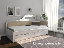 Кровать с мягкой вставкой «Глянец Премиум – 26»