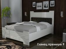 Кровать с подъемным механизмом с изголовьем «Глянец Премиум — 9»