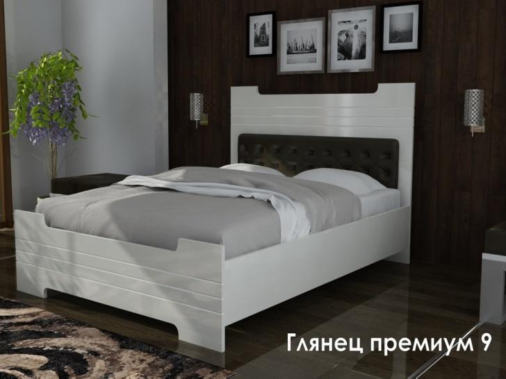 Кровать с подъемным механизмом с изголовьем «Глянец Премиум-9»