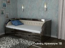 Кровать с подлокотниками «Глянец Премиум – 18»