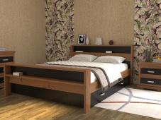 Кровать с полками в изголовье «Августина-2»