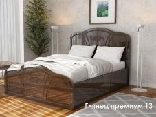 Кровать с резным изголовьем «Глянец Премиум – 13»