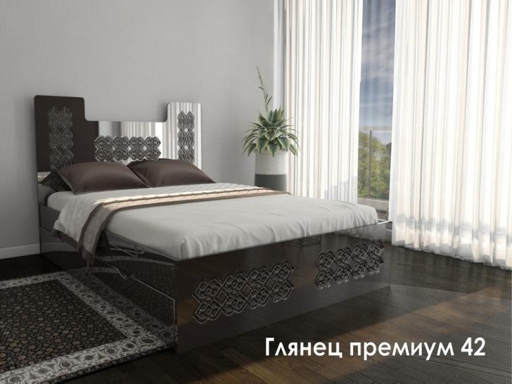Кровать с резным изголовьем «Глянец Премиум – 42»