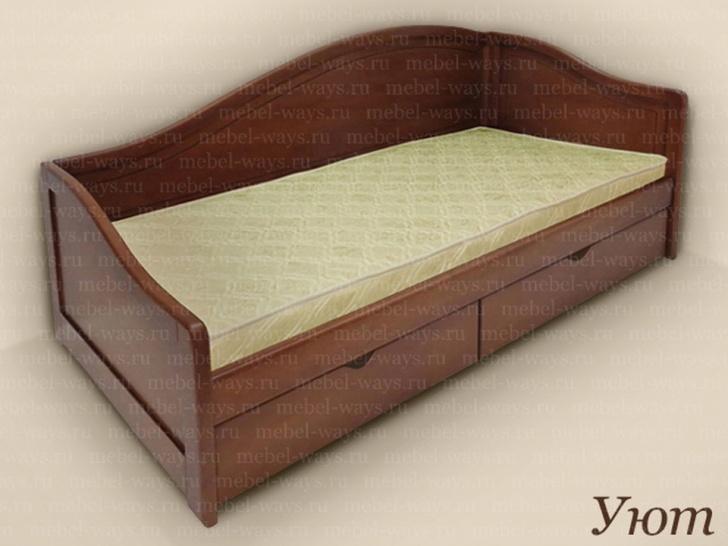 Кровать в виде дивана с тремя спинками «Уют»
