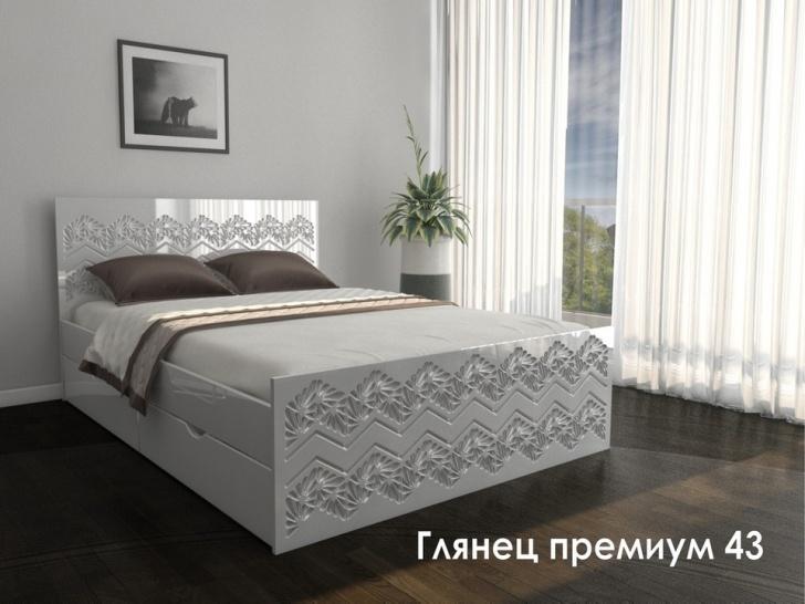 Кровать с узором «Глянец Премиум – 43»