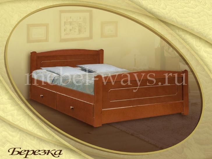 Кровать 90х200 с ящиками «Березка»
