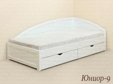 Угловая кровать с ящиками «Юниор-9»