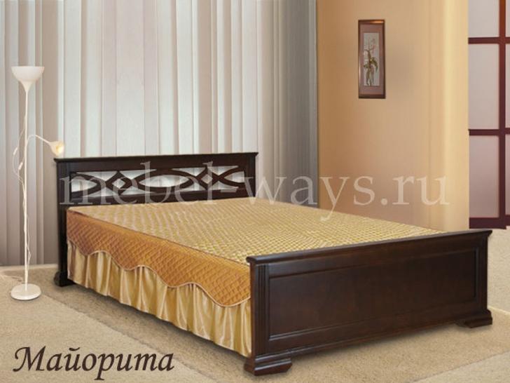 """Кровать из дерева двуспальная """"Майорита"""""""