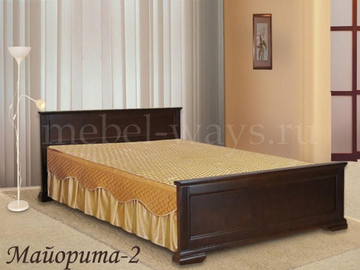 Двуспальная кровать из сосны «Майорита-2»