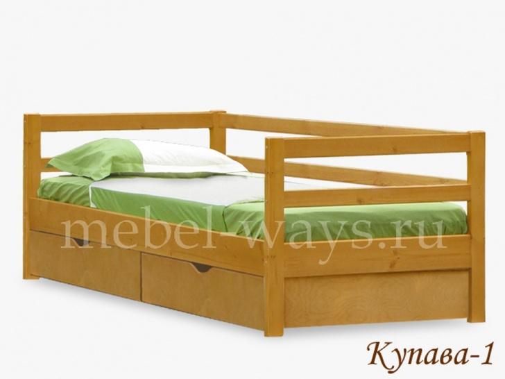Подростковая кровать из натурального дерева «Купава-1»