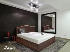 Кожаная кровать от производителя «Лора»