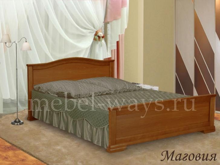 Двуспальная кровать из массива дерева «Маговия»