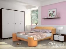 «Марго» — кровать с мягкой обивкой