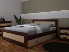 Массивная кровать из дерева «Августина-6»