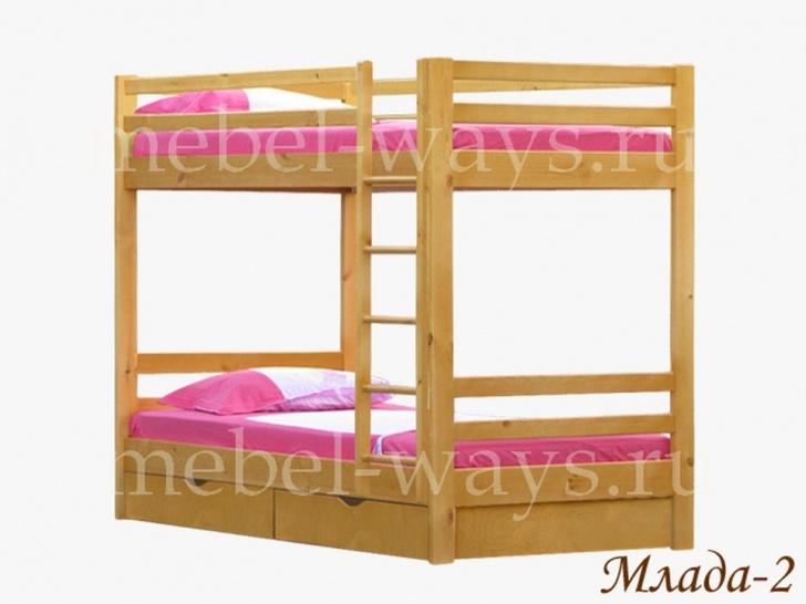 Взрослая деревянная двухъярусная кровать «Млада-2»