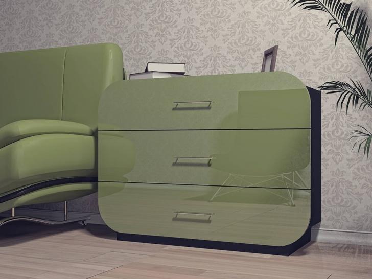 Модный зеленый комод «Модерн-13»