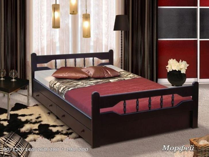 Черная двуспальная кровать «Морфей»