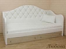 Односпальная кровать кушетка с мягким изголовьем «Любава»