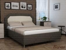 Кровать на ножках с мягким изголовьем «Вичи»