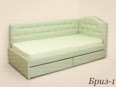 Угловая кровать с мягкими боковинами «Бриз-1»
