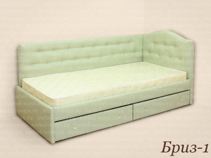 Мягкая угловая кровать «Бриз-1»